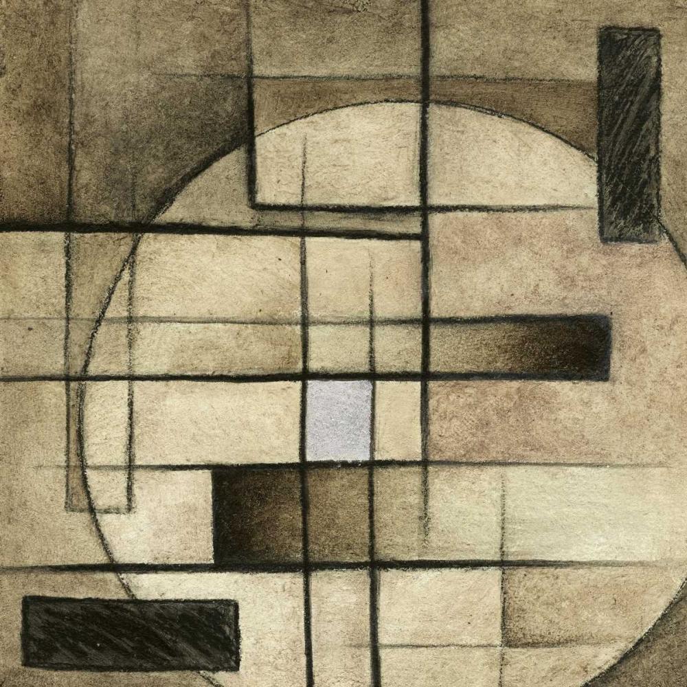 konfigurieren des Kunstdrucks in Wunschgröße Brown Circle Box II von Emery, Kristin