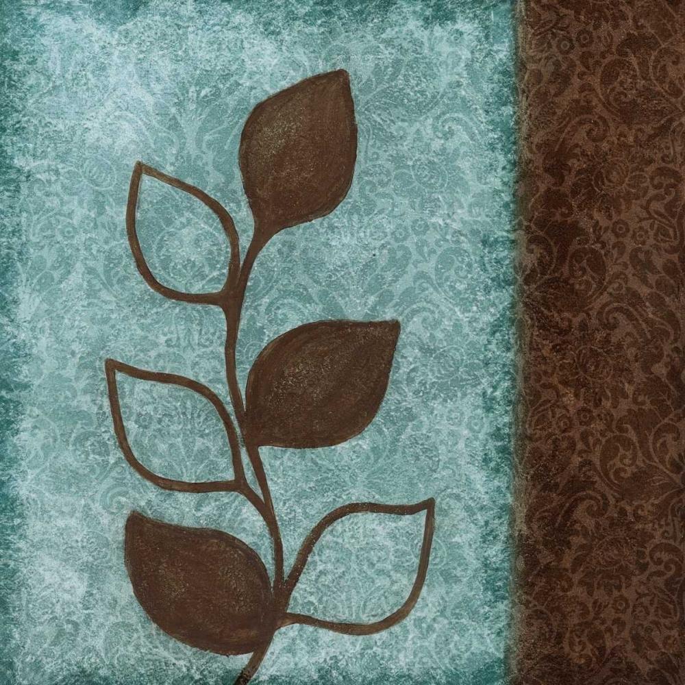 konfigurieren des Kunstdrucks in Wunschgröße Brown Leaves Square - Right von Emery, Kristin