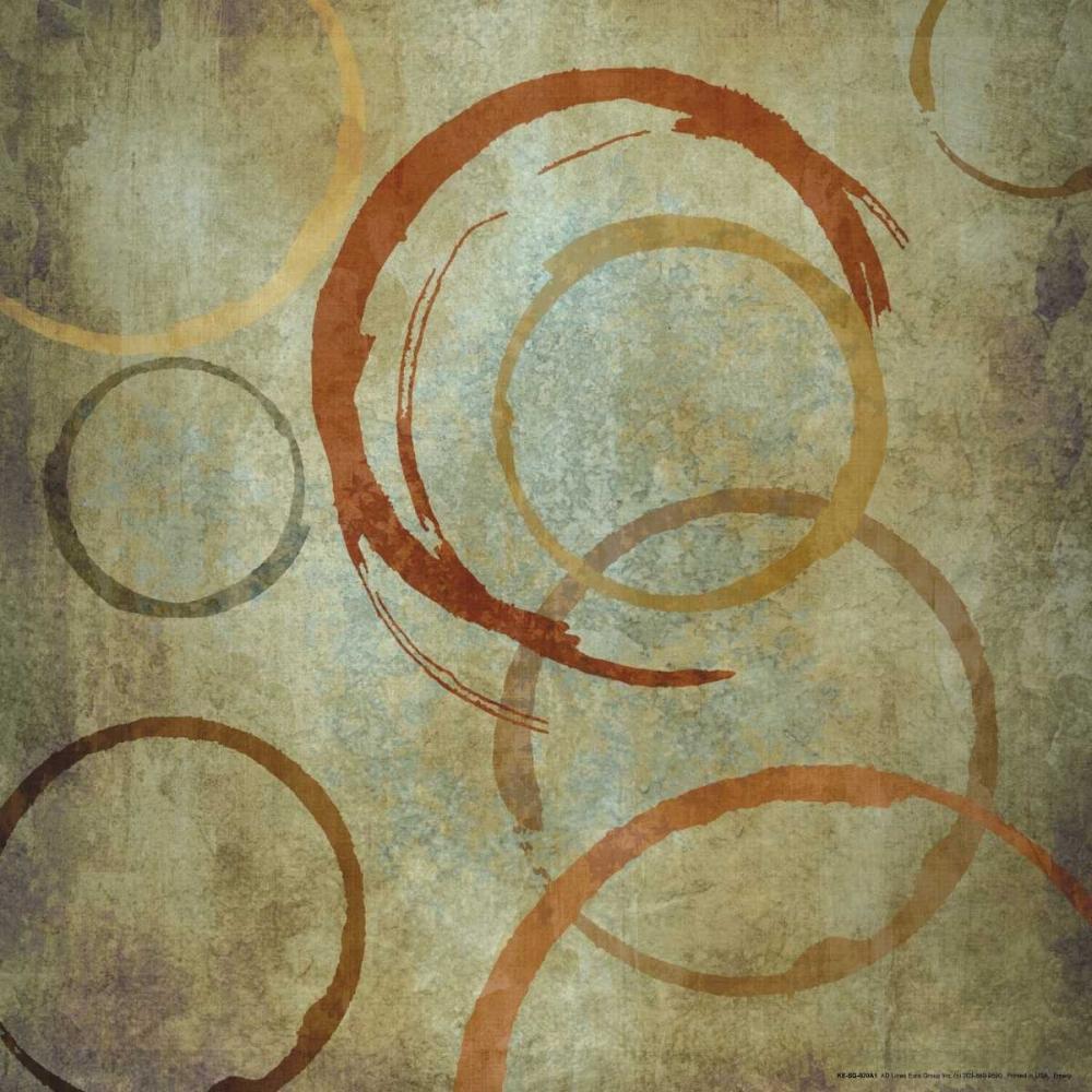 konfigurieren des Kunstdrucks in Wunschgröße Vintage Circels IA von Emery, Kristin