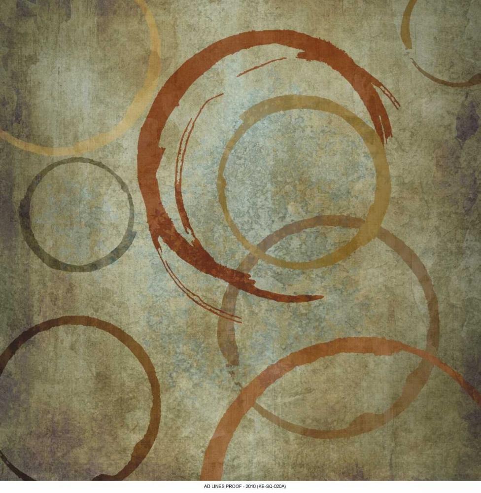 konfigurieren des Kunstdrucks in Wunschgröße Vintage Circels I von Emery, Kristin