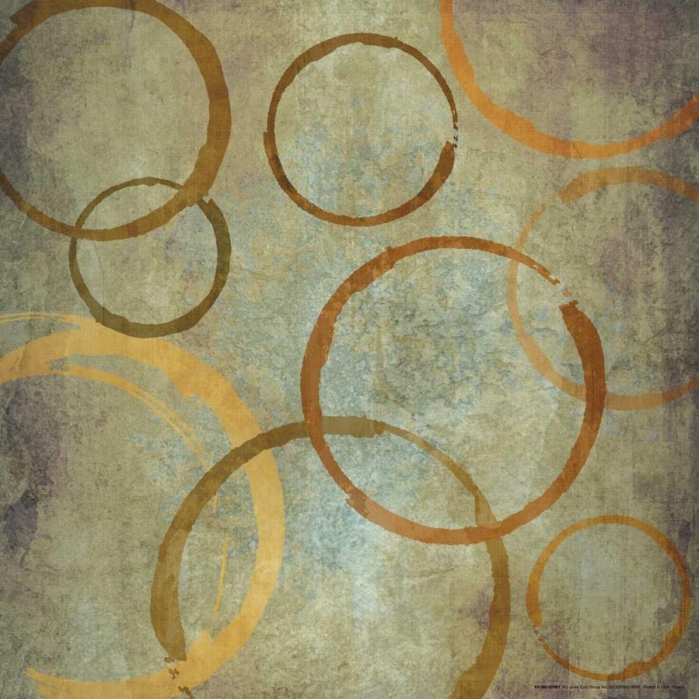 konfigurieren des Kunstdrucks in Wunschgröße Vintange Circles IIA von Emery, Kristin