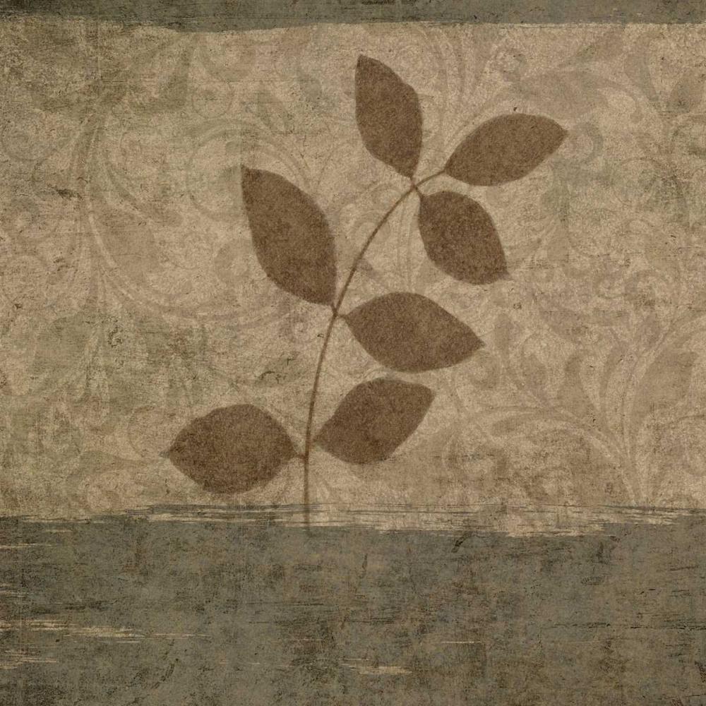 konfigurieren des Kunstdrucks in Wunschgröße Vintage Leaves I von Emery, Kristin
