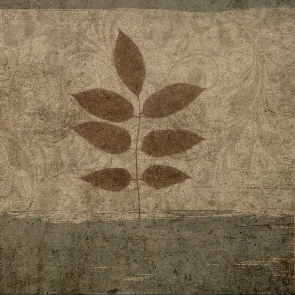 konfigurieren des Kunstdrucks in Wunschgröße Vintage Leaves II von Emery, Kristin
