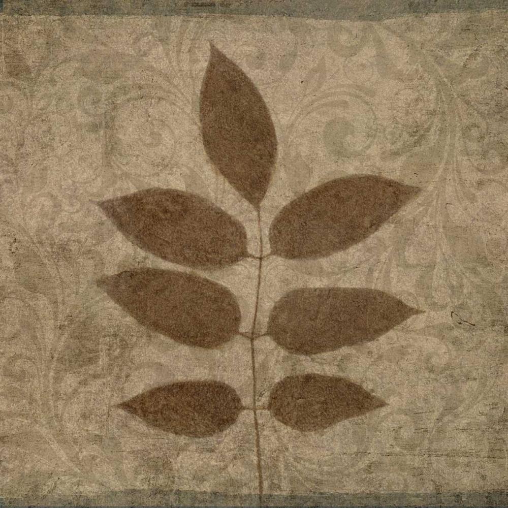 konfigurieren des Kunstdrucks in Wunschgröße Vintage Leaves IV von Emery, Kristin