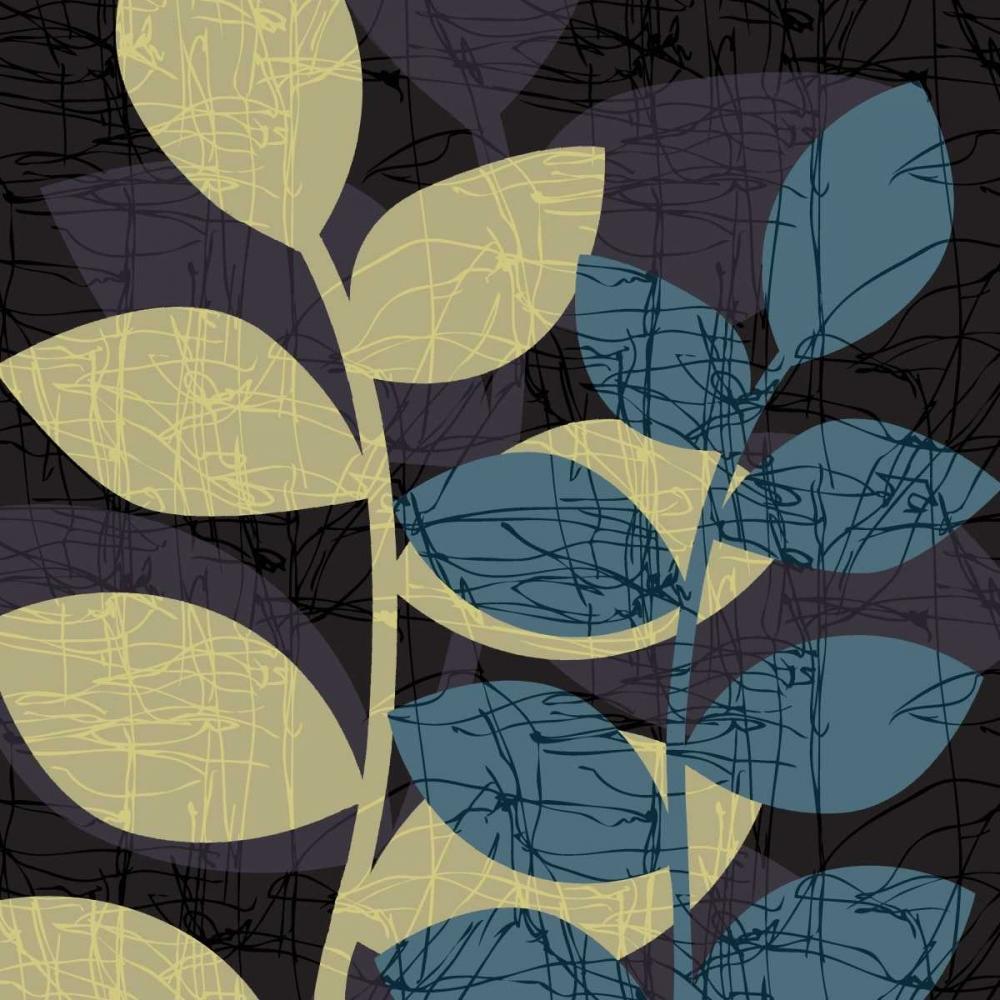 konfigurieren des Kunstdrucks in Wunschgröße Scribble Leaves I von Emery, Kristin