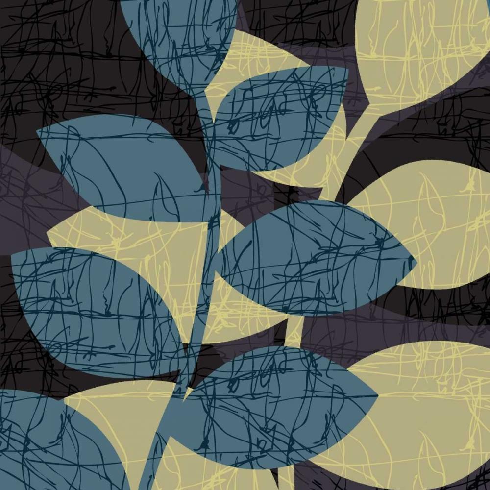 konfigurieren des Kunstdrucks in Wunschgröße Scribble Leaves II von Emery, Kristin