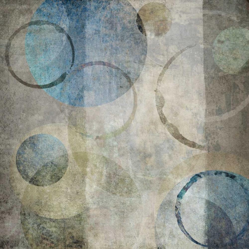 konfigurieren des Kunstdrucks in Wunschgröße Stone Circles Blue I von Emery, Kristin