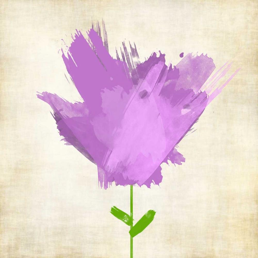 konfigurieren des Kunstdrucks in Wunschgröße Brush Stroke Flowers Violet von Emery, Kristin
