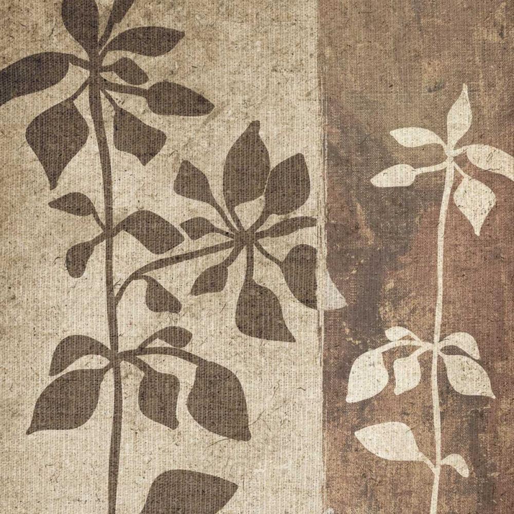 konfigurieren des Kunstdrucks in Wunschgröße Neutral Leaves I von Emery, Kristin