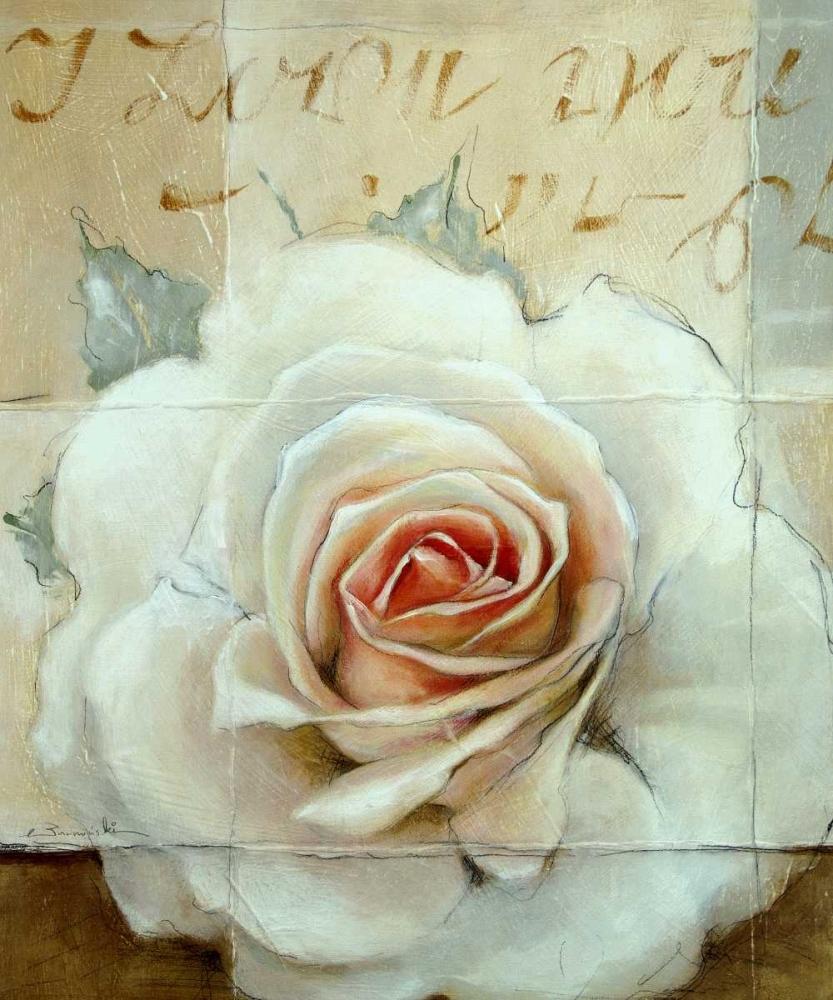 konfigurieren des Kunstdrucks in Wunschgröße Frosted Rose 2 von