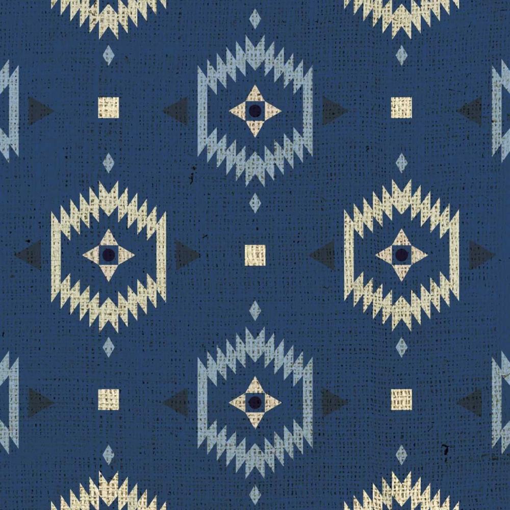 konfigurieren des Kunstdrucks in Wunschgröße Indigo Squares Droplets von Hogan, Melody