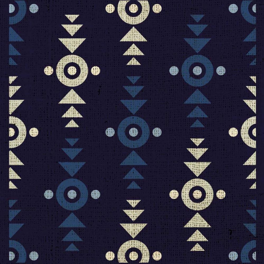 konfigurieren des Kunstdrucks in Wunschgröße Indigo Squares Crosshairs von Hogan, Melody