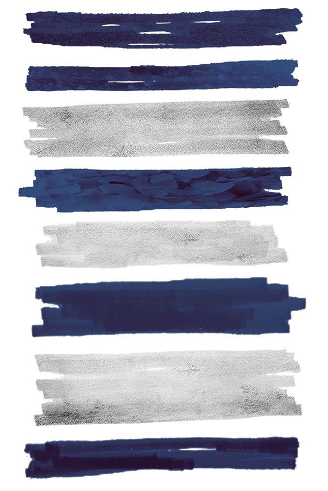 konfigurieren des Kunstdrucks in Wunschgröße Indigo Paint Streaks von Prime, Marcus