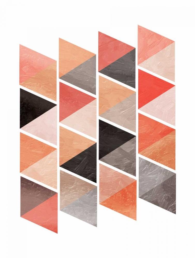 konfigurieren des Kunstdrucks in Wunschgröße School Of Rose Triangles von OnRei