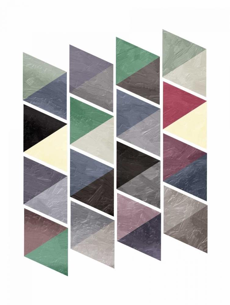 konfigurieren des Kunstdrucks in Wunschgröße School Of Mud Triangles von OnRei
