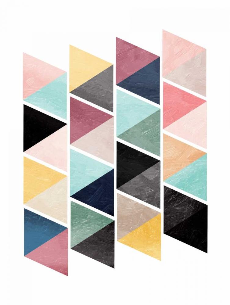 konfigurieren des Kunstdrucks in Wunschgröße School Of Triangles von OnRei