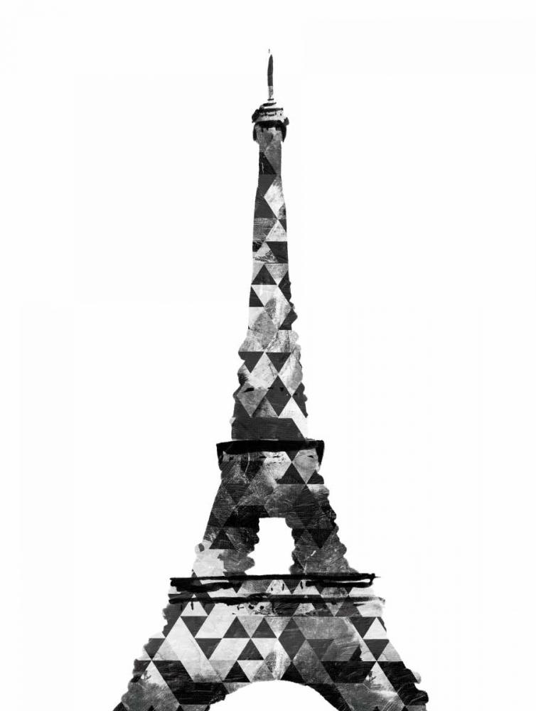 konfigurieren des Kunstdrucks in Wunschgröße Grey Eiffel Triangles von OnRei