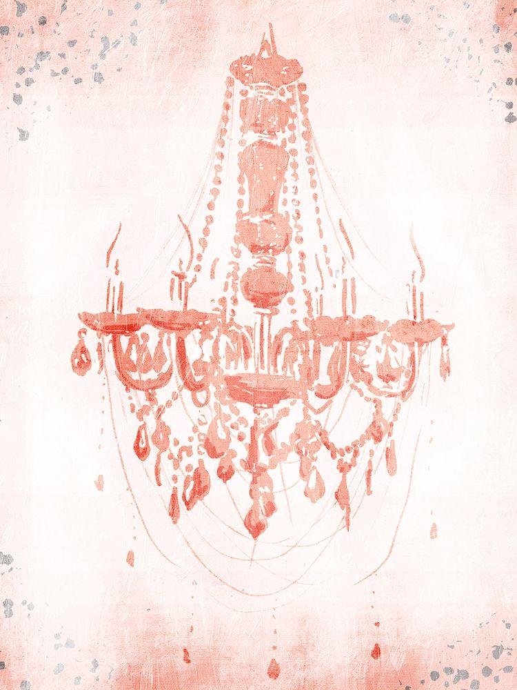 konfigurieren des Kunstdrucks in Wunschgröße Blush Silver Chandelier von OnRei