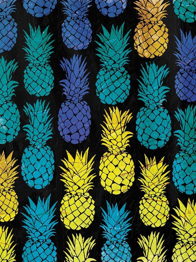 konfigurieren des Kunstdrucks in Wunschgröße Multi Pineapples von OnRei