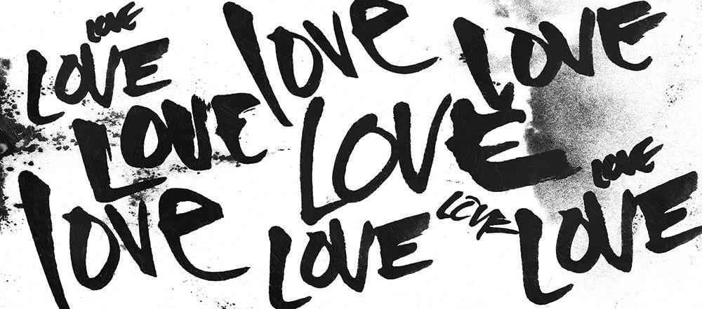 konfigurieren des Kunstdrucks in Wunschgröße Multi Love von OnRei