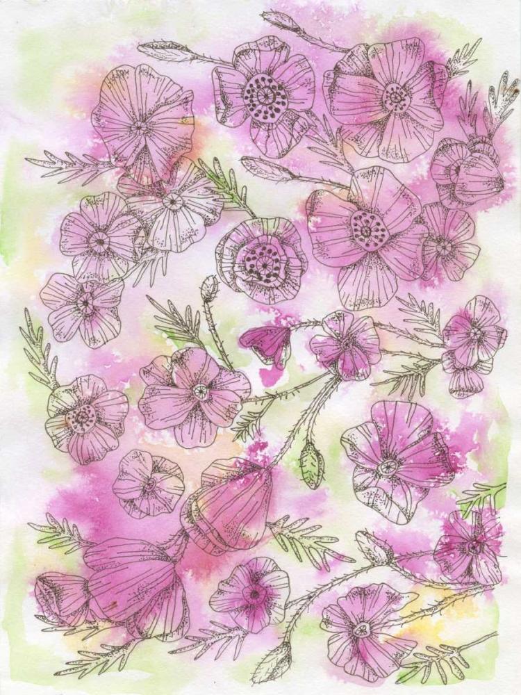 konfigurieren des Kunstdrucks in Wunschgröße Floral Pinks von Varacek, Pam