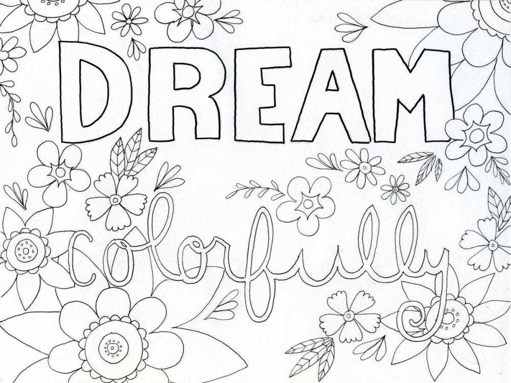 konfigurieren des Kunstdrucks in Wunschgröße Colorful Dream von Varacek, Pam