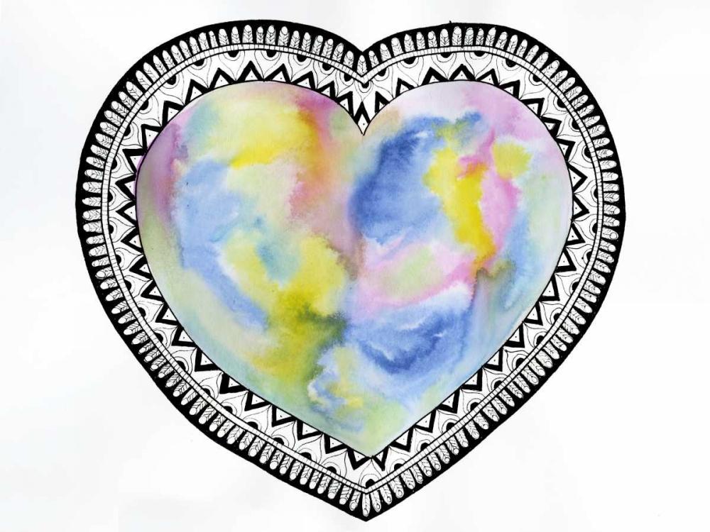 konfigurieren des Kunstdrucks in Wunschgröße Tribal Heart von Varacek, Pam