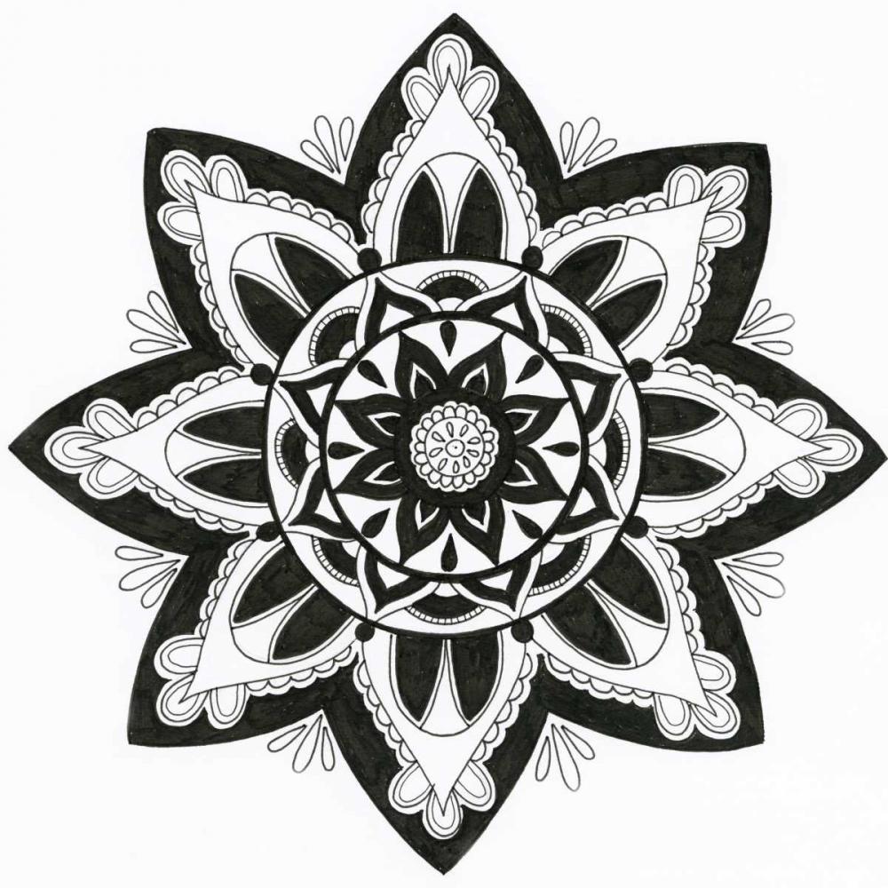 konfigurieren des Kunstdrucks in Wunschgröße Yang Mandala von Varacek, Pam