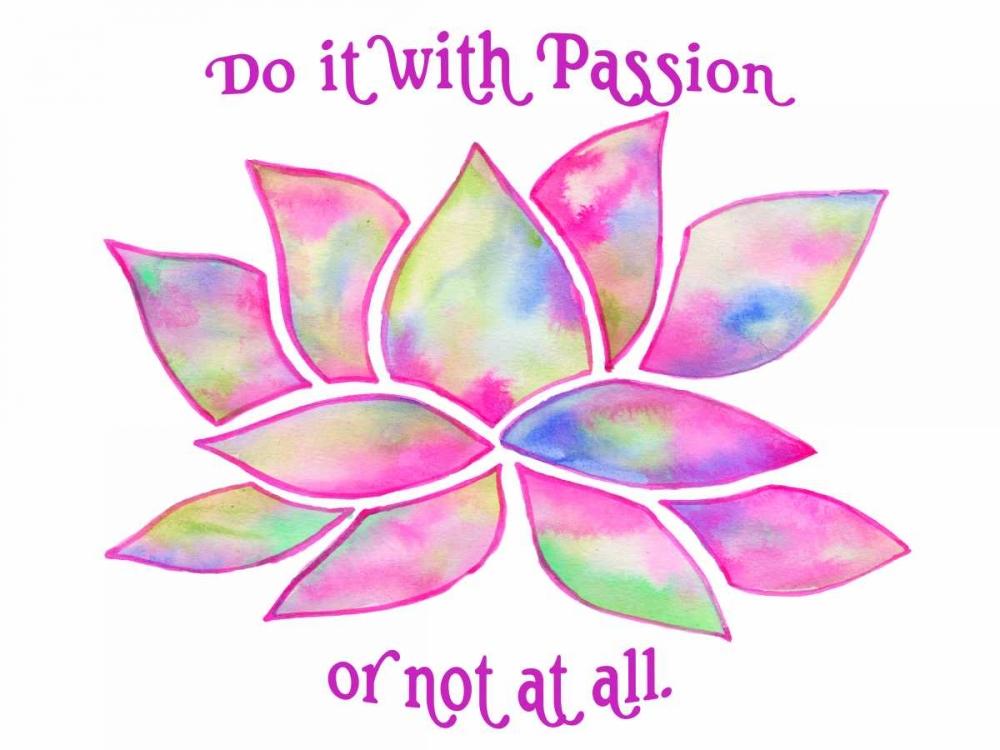 konfigurieren des Kunstdrucks in Wunschgröße Tie Dye Lotus Passion von Varacek, Pam