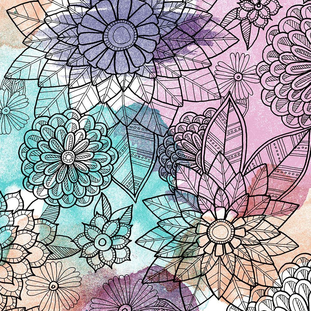 konfigurieren des Kunstdrucks in Wunschgröße Watercolor Bouquet 2 von