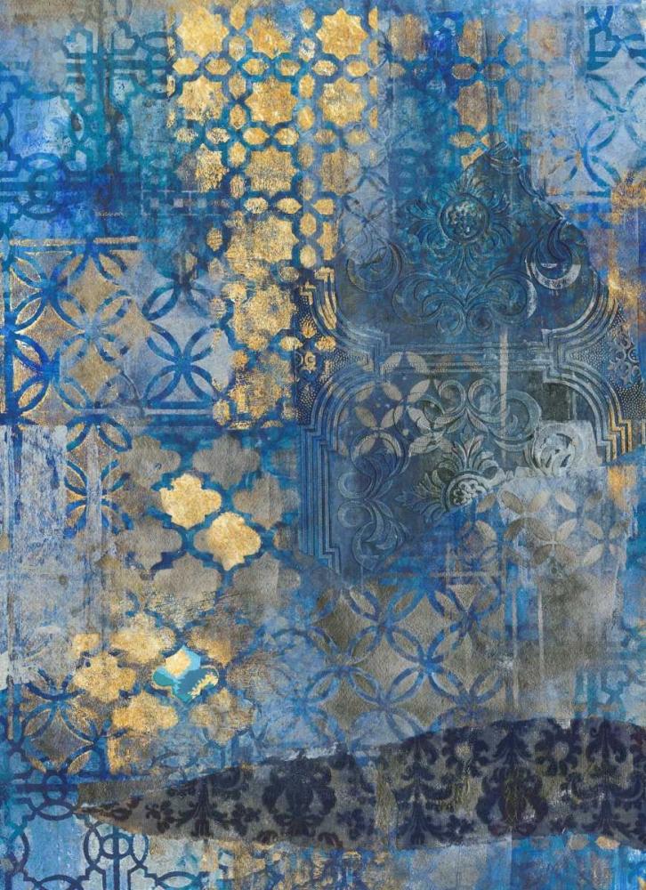 konfigurieren des Kunstdrucks in Wunschgröße Ornate Azul A2 von Haynes, Smith