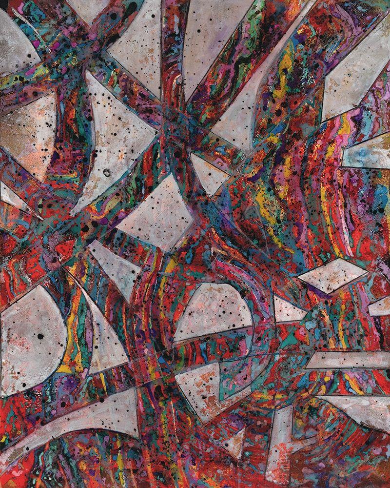 konfigurieren des Kunstdrucks in Wunschgröße Painted Splattered Roads von Haynes, Smith