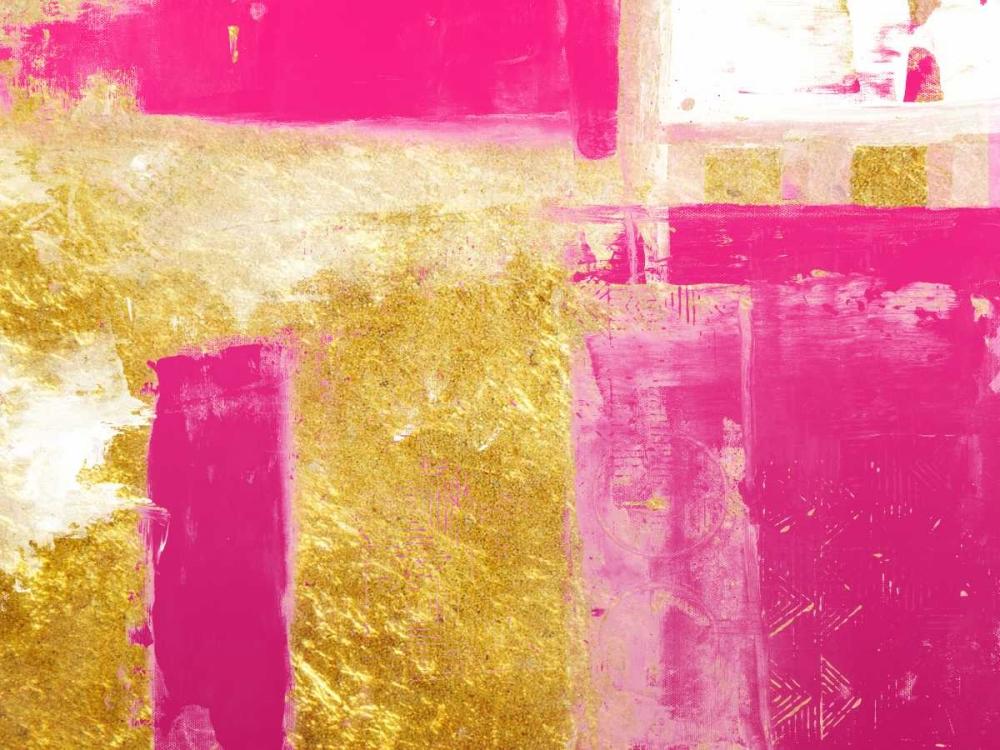 konfigurieren des Kunstdrucks in Wunschgröße Mesmerizing Pink And Gold 1 von Lewis, Sheldon