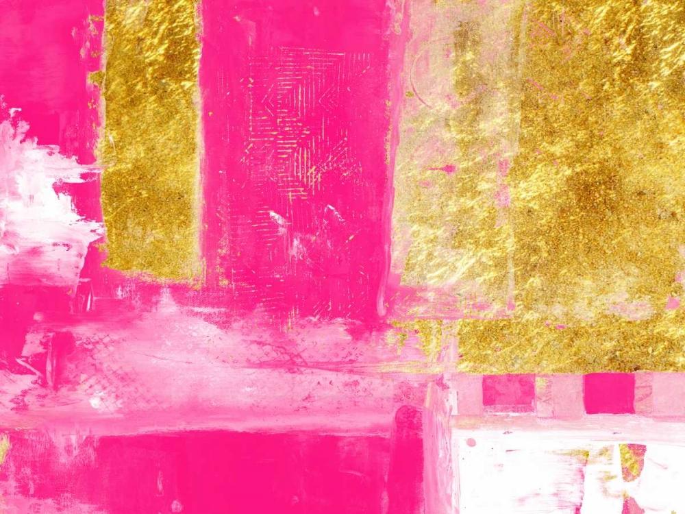 konfigurieren des Kunstdrucks in Wunschgröße Mesmerizing Pink And Gold von Lewis, Sheldon