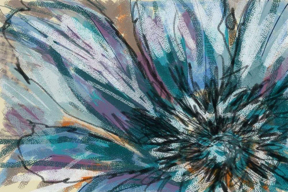 konfigurieren des Kunstdrucks in Wunschgröße Blue Flower von Butcher, Sarah