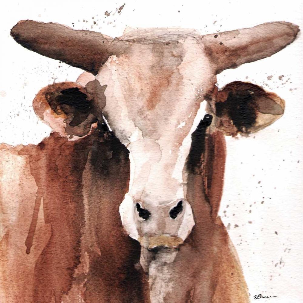 konfigurieren des Kunstdrucks in Wunschgröße Splashed Bull von Brown, Victoria