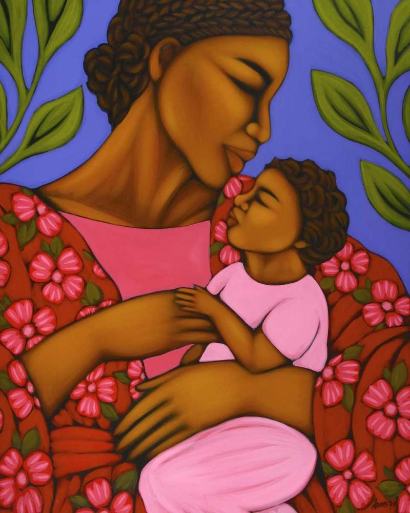 konfigurieren des Kunstdrucks in Wunschgröße African Mother and Baby von Adams, Tamara
