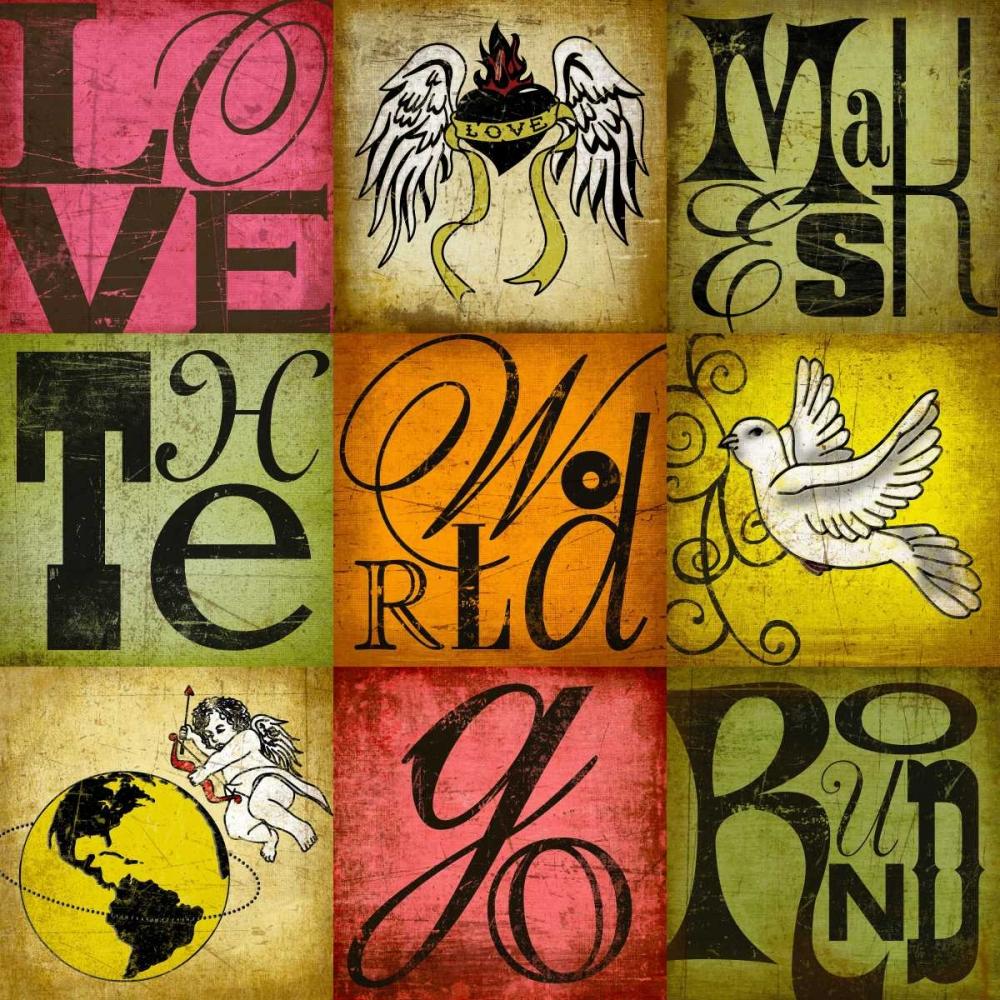 konfigurieren des Kunstdrucks in Wunschgröße Love Makes the World Go Round von Einzelbilder