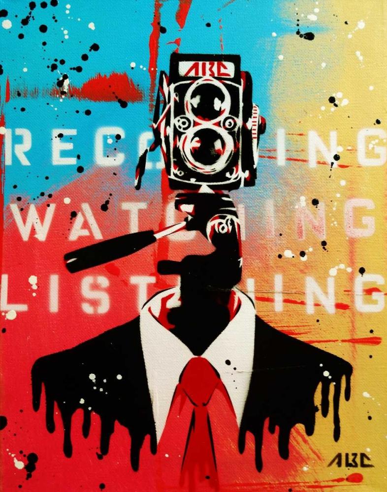 konfigurieren des Kunstdrucks in Wunschgröße NSA Camera Man von AbcArtAttack