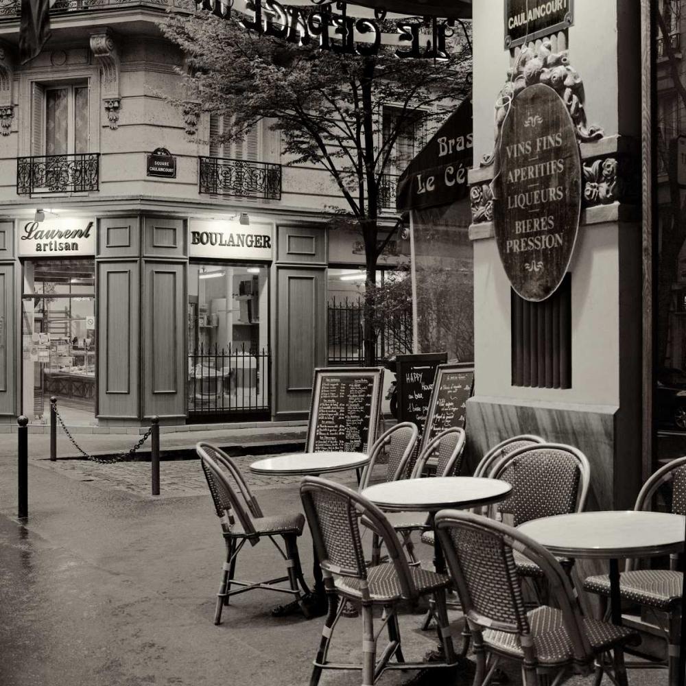 konfigurieren des Kunstdrucks in Wunschgröße Café, Montmartre von Blaustein, Alan