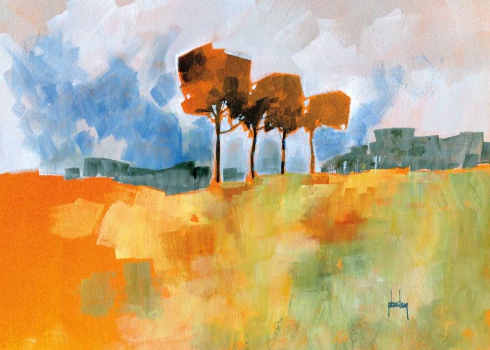 konfigurieren des Kunstdrucks in Wunschgröße Four Trees von Bailey, Paul