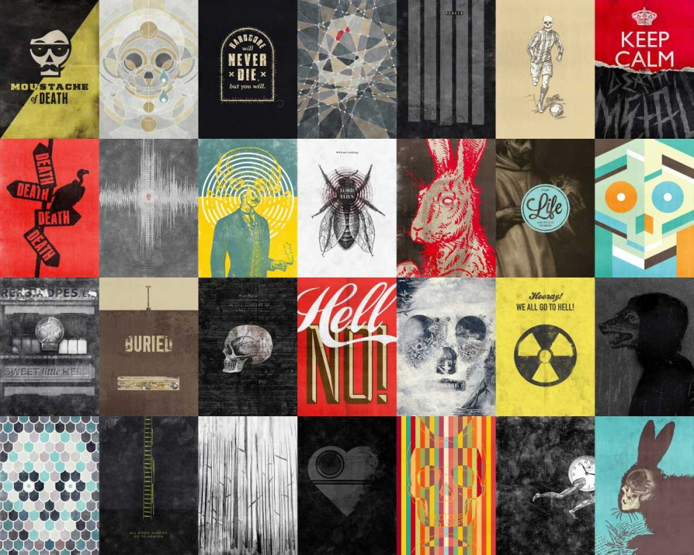 konfigurieren des Kunstdrucks in Wunschgröße Death Skulls von Beer, Hannes