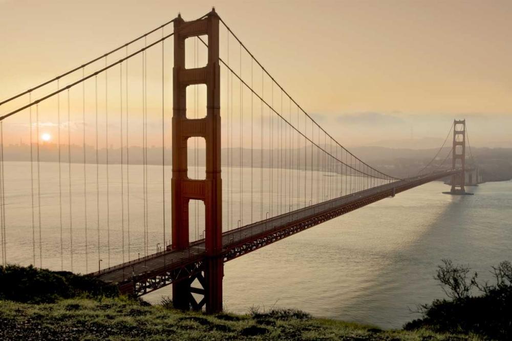 konfigurieren des Kunstdrucks in Wunschgröße Golden Gate Sunrise #2 von Blaustein, Alan