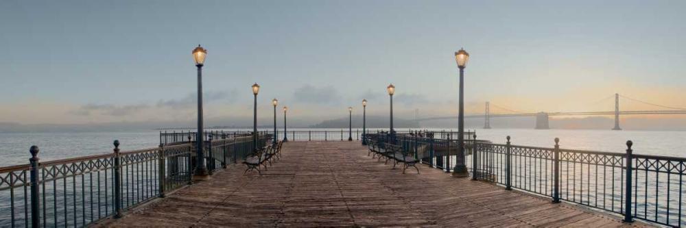 konfigurieren des Kunstdrucks in Wunschgröße Pier with Bay Bridge Vista von Blaustein, Alan