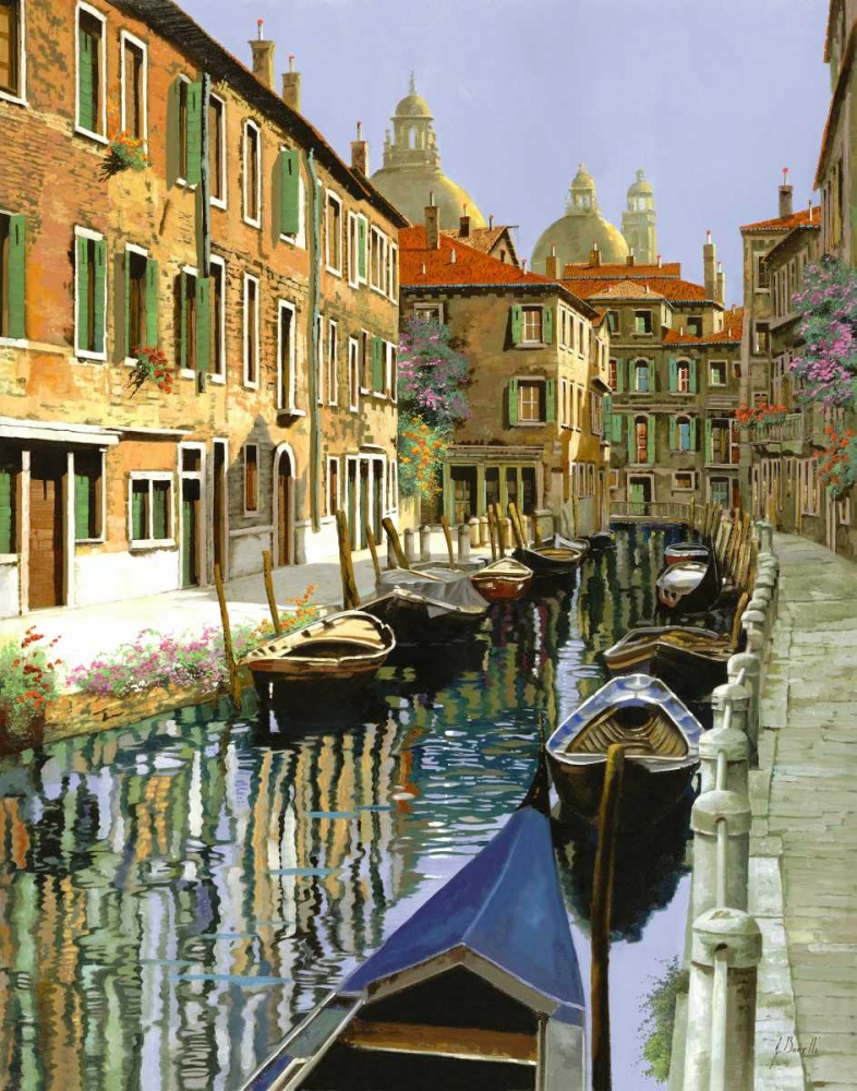 konfigurieren des Kunstdrucks in Wunschgröße La Barche Sul Canale von Borelli, Guido