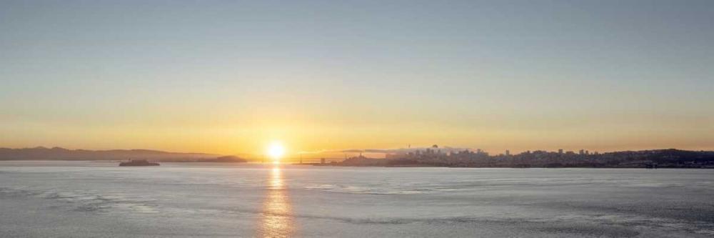 konfigurieren des Kunstdrucks in Wunschgröße Sunrise Vista on the Bay von Blaustein, Alan