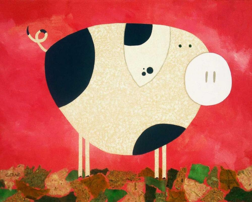 konfigurieren des Kunstdrucks in Wunschgröße Pig Newton von Craig, Casey