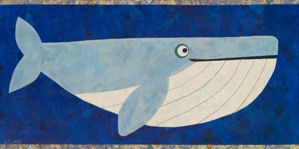 konfigurieren des Kunstdrucks in Wunschgröße Wendell the Whale von Craig, Casey