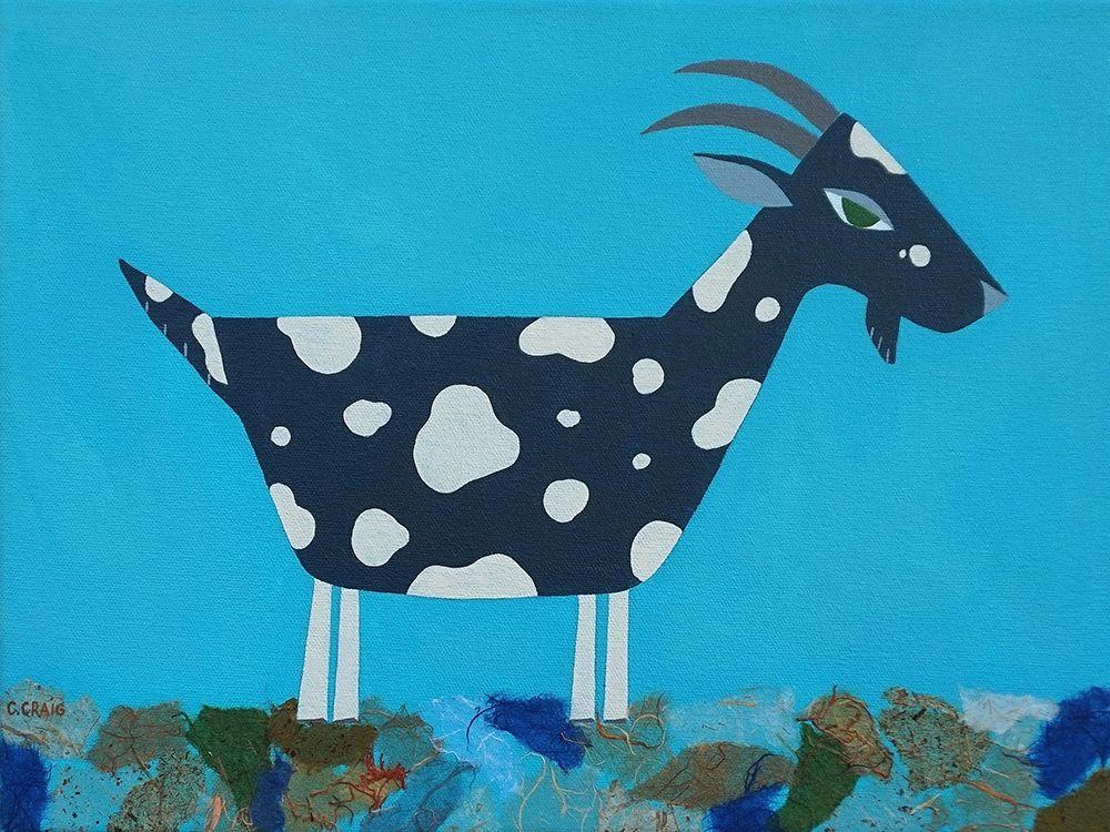 konfigurieren des Kunstdrucks in Wunschgröße Fergus The Goat von Craig, Casey