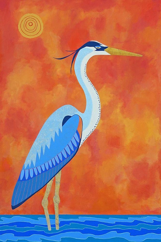 konfigurieren des Kunstdrucks in Wunschgröße Blue Heron von Craig, Casey